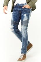 Forever21 Kdnk Distressed Moto Jeans