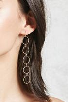 Forever21 Linked Hoop Drop Earrings