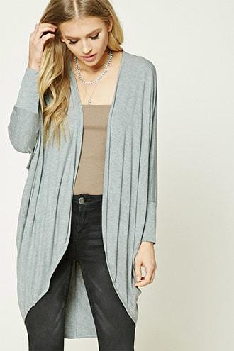 Forever21 Heathered Cocoon Cardigan