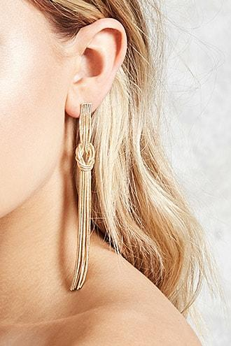 Forever21 Knotted Duster Earrings