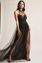 Forever21 Tulle Halter Maxi Dress