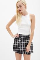 Forever21 Pleated Windowpane Skirt