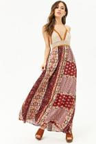 Forever21 Crochet Halter Floral Maxi Dress