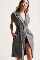 Forever21 Belted Woolen Longline Vest