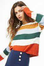 Forever21 Boxy Colorblock Sweater