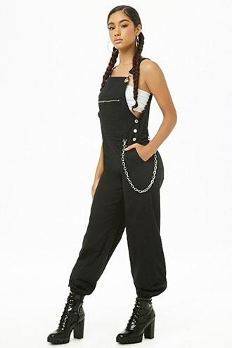 Forever21 Zip-pocket Overall Joggers