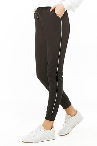 Forever21 Piped-trim Sweatpants