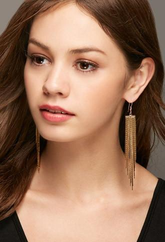 Forever21 Lucky Star The Strand Earrings (gold)