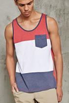 Forever21 Colorblock Pocket Tank Top