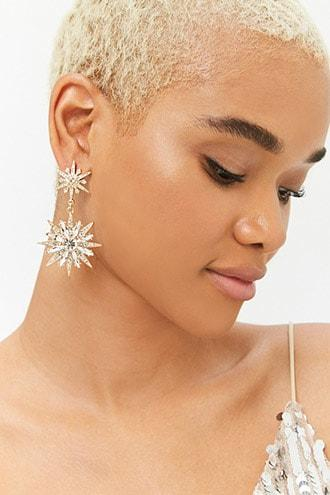 Forever21 Tiered Faux Gem Drop Earrings