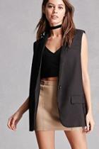 Forever21 Blush Noir Blazer Vest