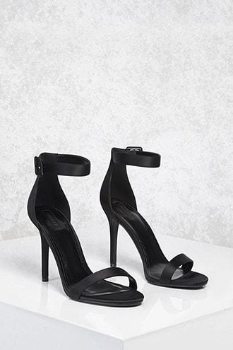 Forever21 Satin Ankle-strap Stilettos