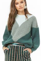 Forever21 Colorblock Chevron Sweater