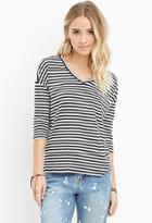 Forever21 Striped Boxy Top