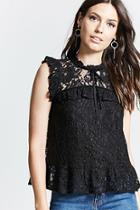 Forever21 Sleeveless Crochet Lace Top