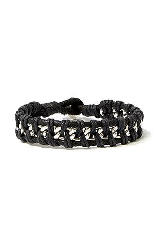 Forever21 Men Roped Chain Bracelet