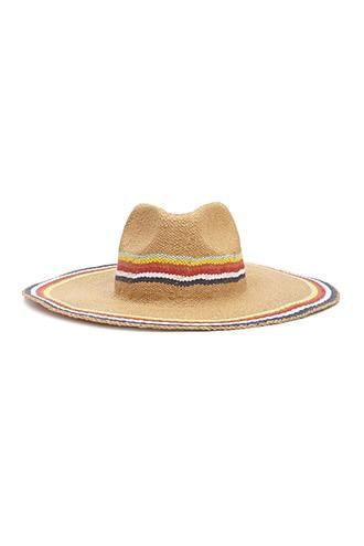 Forever21 Multicolor Striped Wide-brim Hat