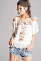 Forever21 Floral Embroidery Top
