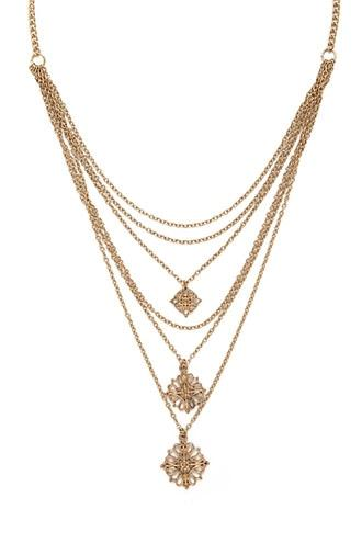Forever21 Layered Filigree Charm Necklace