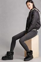Forever21 Faux Fur Flatform Boots