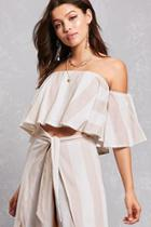 Forever21 Draped Flounce Top