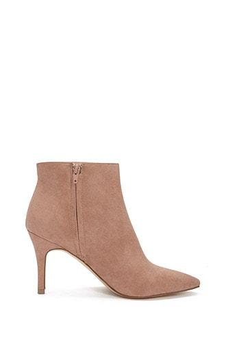 Forever21 Faux Suede Pointed Toe Booties