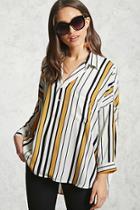 Forever21 Striped Chiffon Shirt