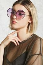 Forever21 Rimless Ombre Round Sunglasses