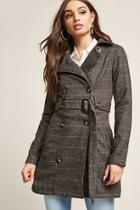 Forever21 Belted Tweed Trench Coat