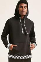 Forever21 Checkered-trim Hoodie