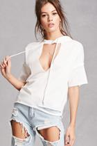 Forever21 Hooded Cutout Top