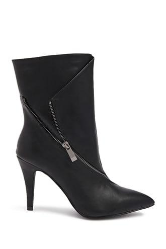 Forever21 Zip Detail Ankle Boots