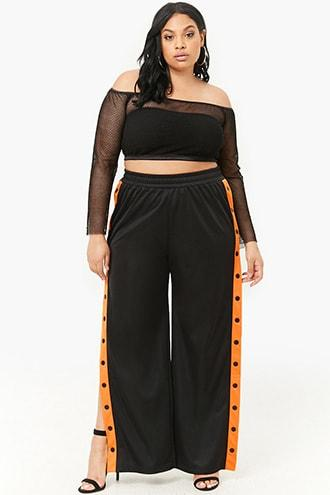 Forever21 Plus Size Tearaway Track Pants