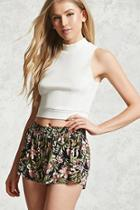 Forever21 Tropical Floral Print Shorts