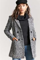 Forever21 Boucle Double-breasted Peacoat
