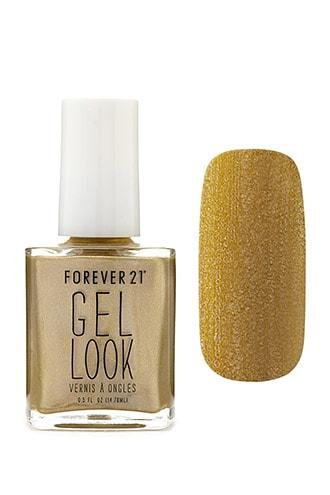 Forever21 Gold Gel Look Nail Polish