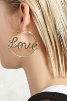 Forever21 Love Hoop Earrings