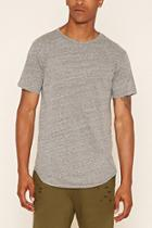 21 Men Men's  Heather Grey Eptm. Longline Tee