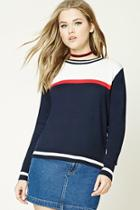 Forever21 Colorblock Stripe Sweater