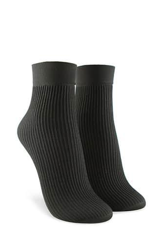 Forever21 Ribbed Knit Crew Socks