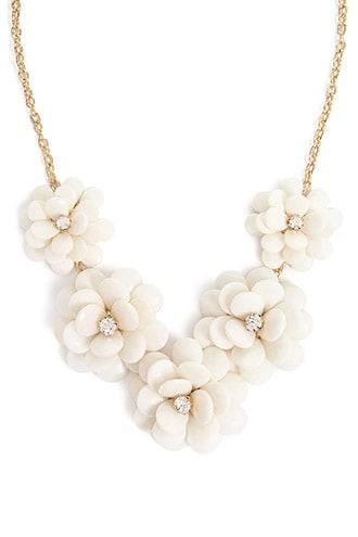 Forever21 Statement Floral Necklace