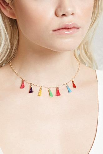 Forever21 Tassel Charm Necklace