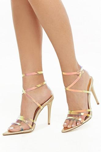 Forever21 Strappy Iridescent Heels