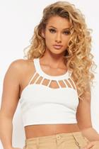 Forever21 Textured Cutout Crop Top