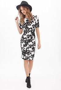 Forever21 Floral Print Matelass Dress