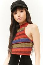 Forever21 Mock Neck Colorblock Sweater-knit Top