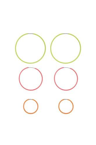 Forever21 Multicolor Hoop Earring Set
