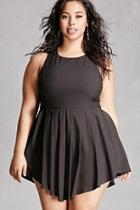 Forever21 Plus Size Pleated Cutout Romper