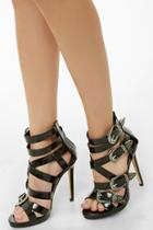 Forever21 Privileged Strappy Stiletto Heels