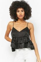 Forever21 Satin Tiered Cami Top